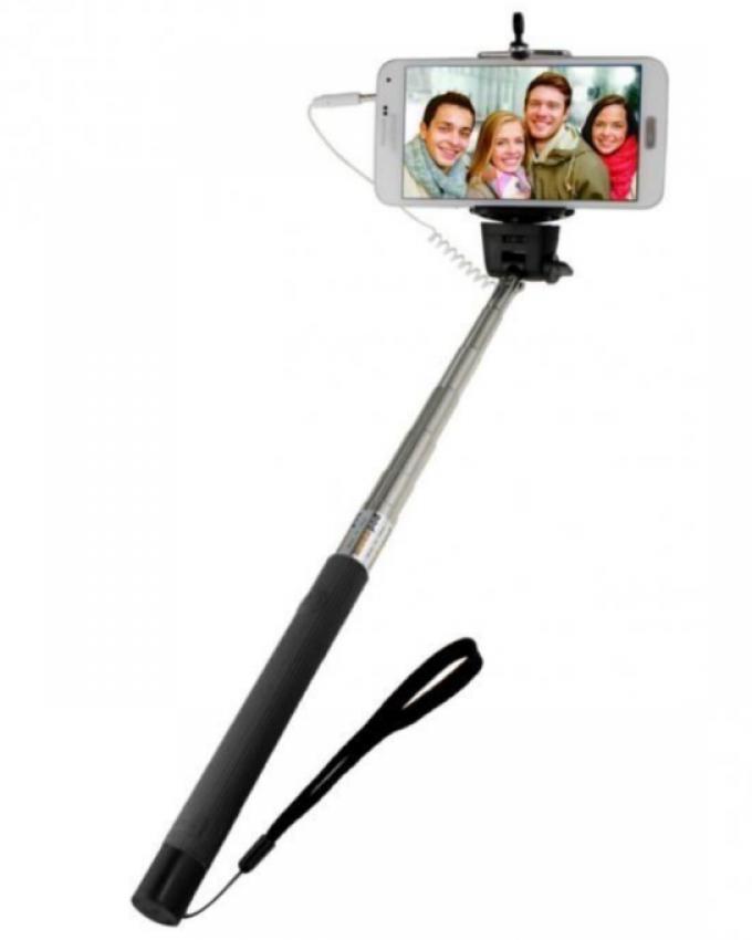 """Pack of 2 - 7"""" Tablet Back Cover & Selfie Stick - Black"""