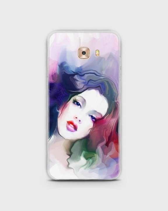 Cover For Samsung C5 Hybrid Soft Girl Face Print -1cover2817