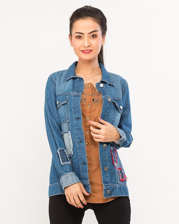 dd45897705a Blue Denim Jackets For Women
