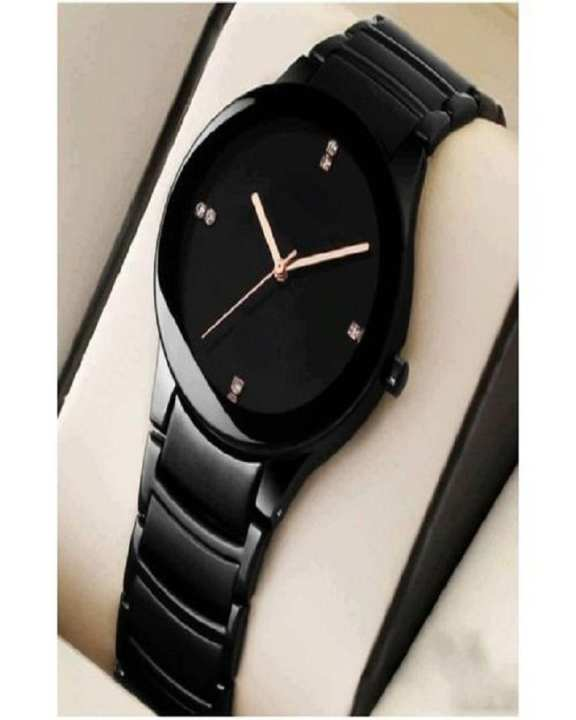 Black Stainless Steel Watch Just For Men