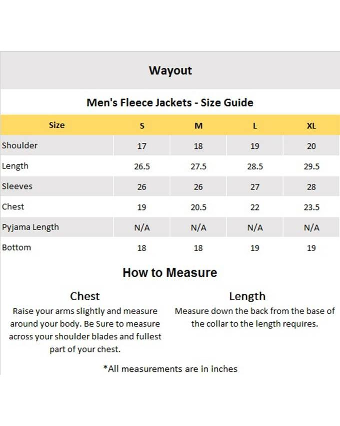 Grey & Black Fleece Button Down Jacket For Men
