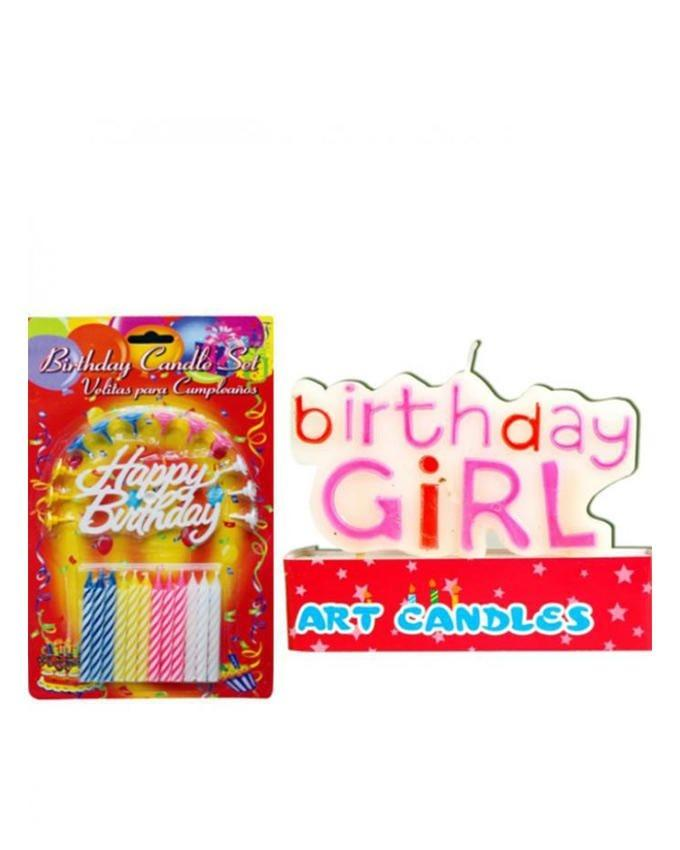 Pack of 2 - 10 - Birthday Candles - Multicolor