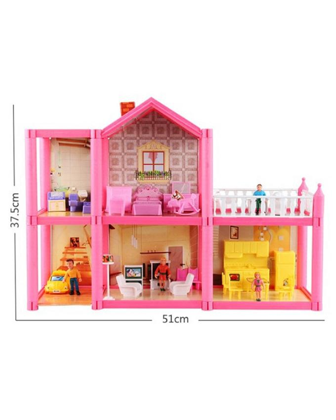 Lovely Pink Doll House 113 Pcs