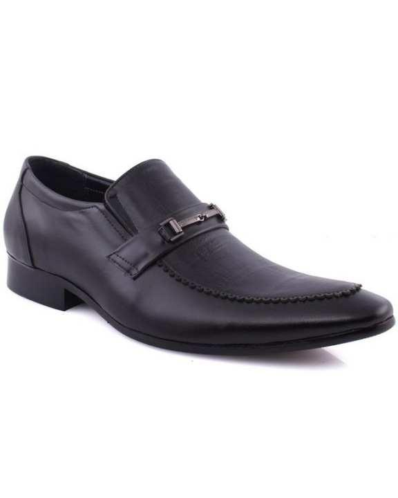 """Black Men's """"FINN"""" Pointy Toe Classic Slip On Loafer Shoes"""