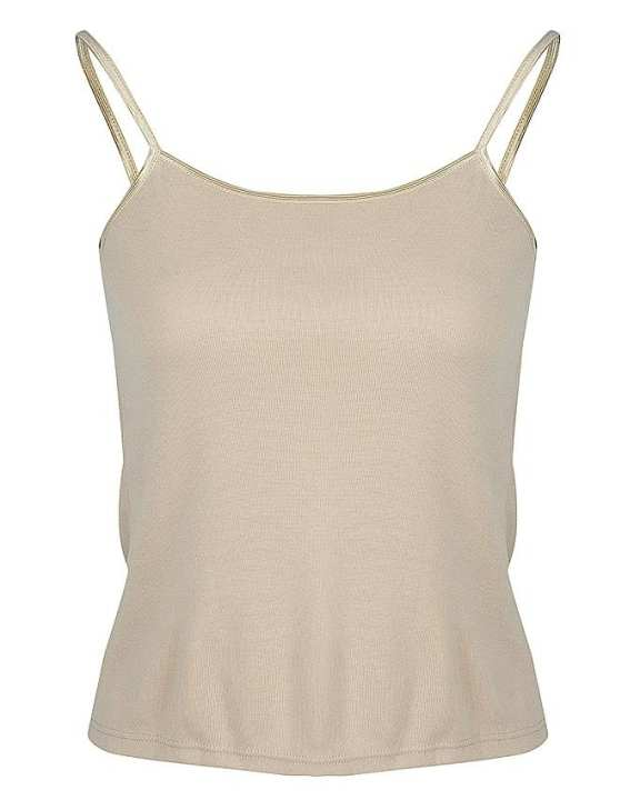 Skin Ribbed Cotton Camisole for Women