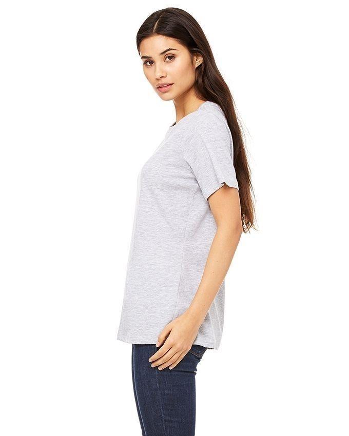 Grey Cotton T-Shirt for Women