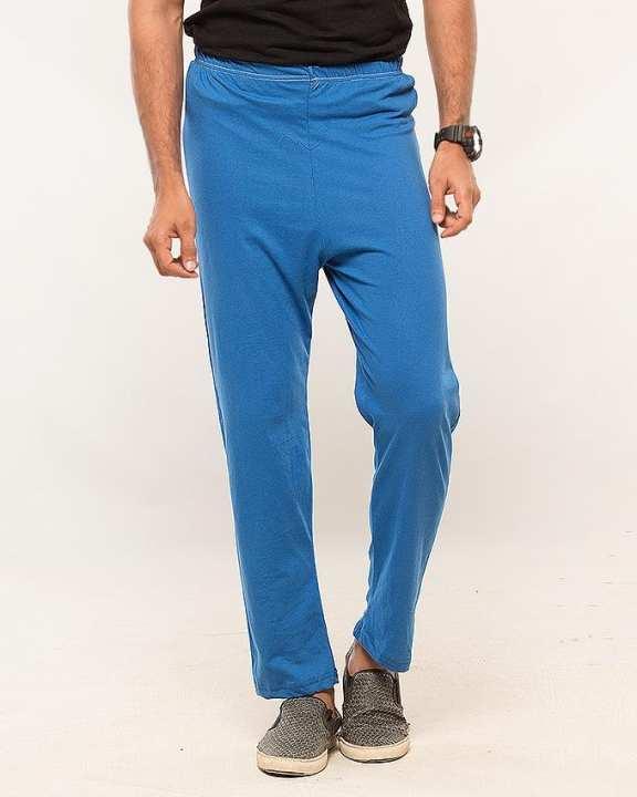 Blue Cotton Jersey Pajama For Men