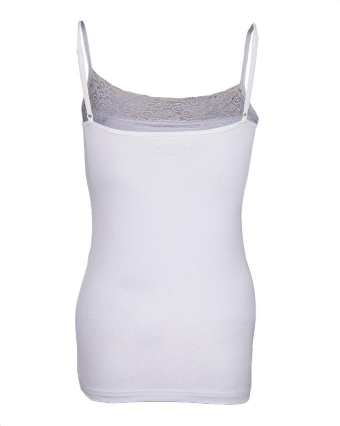 Camisole Collection White Cotton Basic Camisole for Women