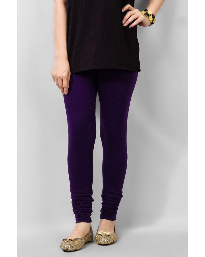 Purple Viscose Women Tights