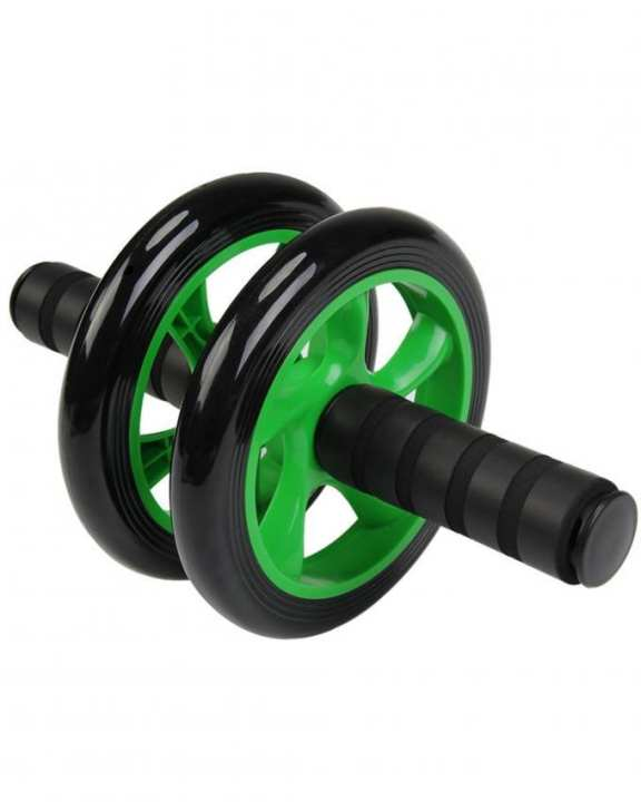 Two Wheeled Abdominal Roller - Green & Black - Large