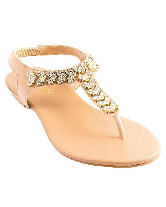 Fawn Suede Sandal For Women 2289/06s