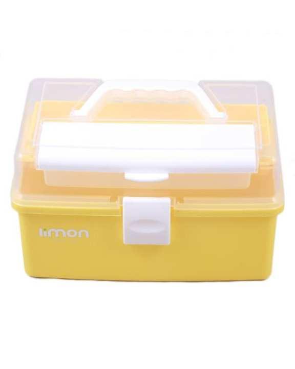 Premium Limon Craft Storage Tool Box - Yellow
