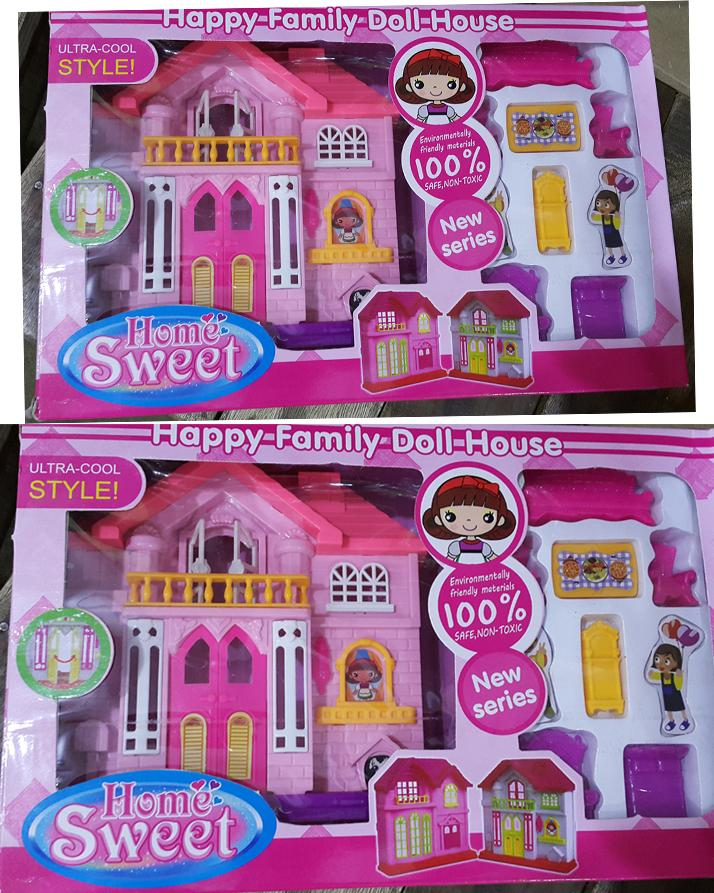 Kids Toys Doll House Sweet Happy Family Doll House For Girlskids Kdh