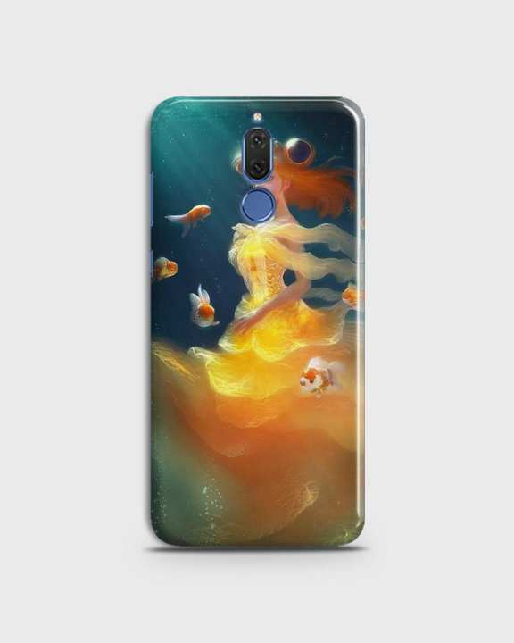Cover For Huawei Mate 10 Lite Hard Mermaid Style Girl -1cover2823