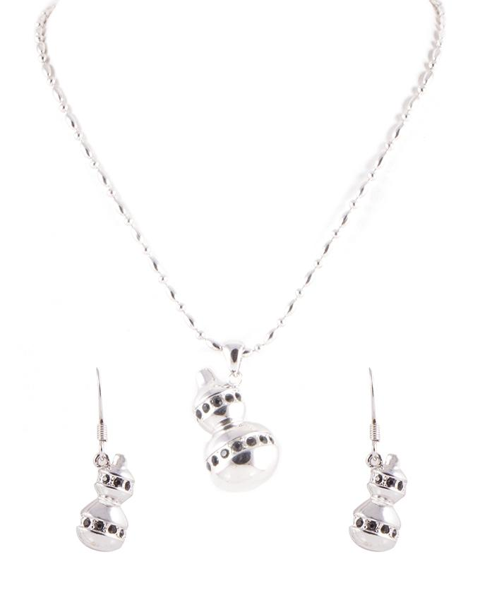 Silver Pendant With Earring