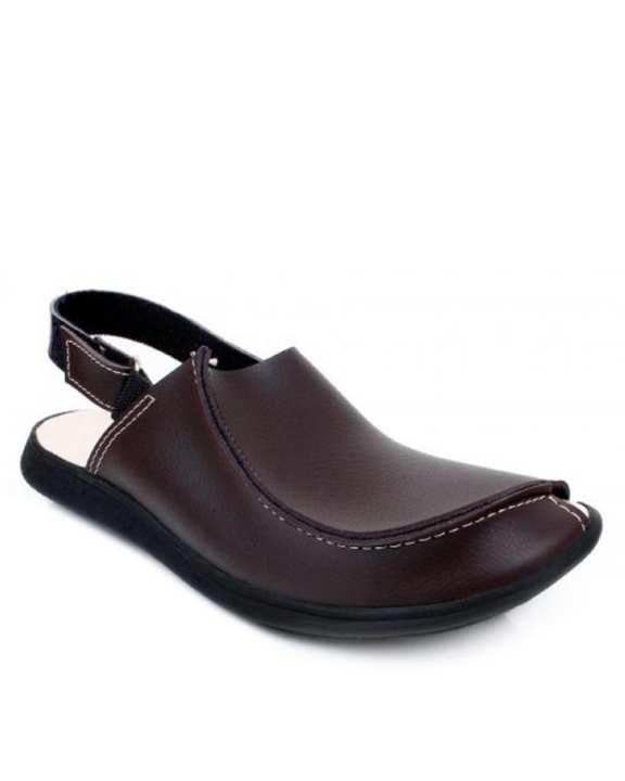 Brown Rexine Casual Sandal for Men