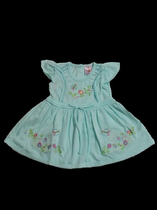 Girls Imported Green Frock And Nicker Set Age 1 To 4 Years 13d0a0520