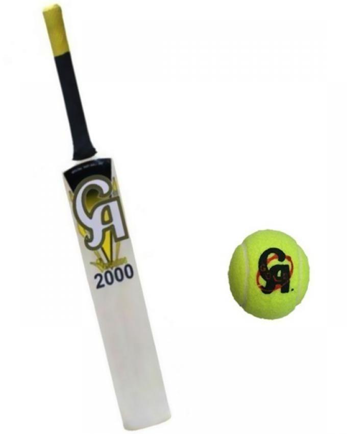 CA Sports Pack of 2 - Cricket Bat + Free Tennis Ball