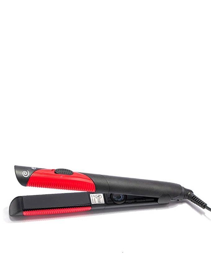 KM-1296 - Hair Straightener - Black & Red