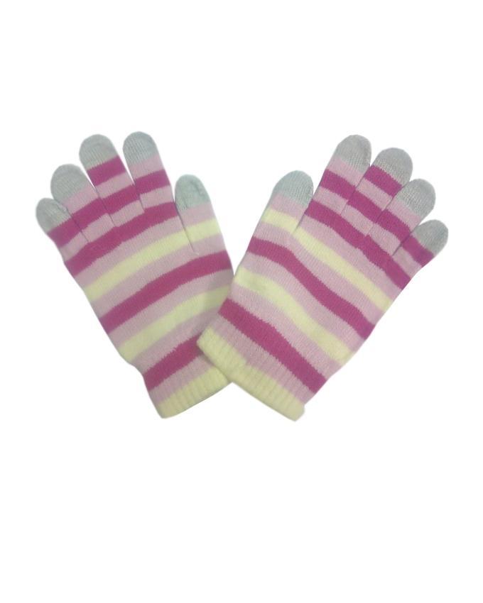 Multicolor Wool Gloves For Women - Smart Phone User