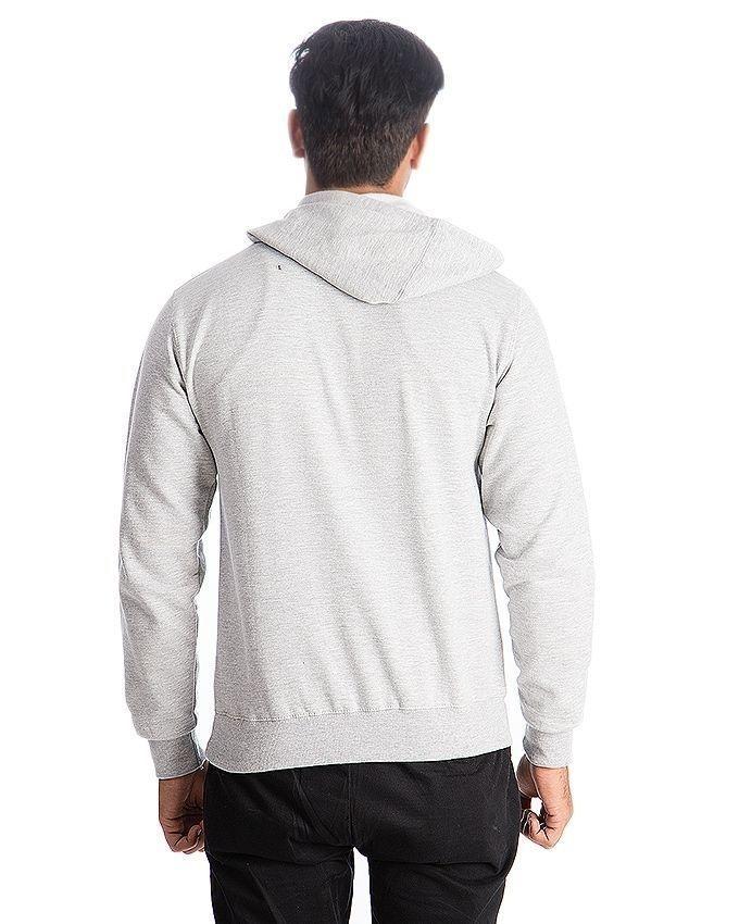 Grey Fleece Hoodie for Men