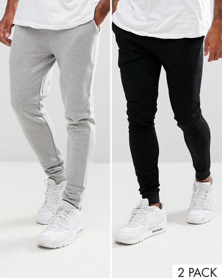 Combo Deal Pack of 2 Sweat Pant black   Heather Grey cd24fd4cb20eb