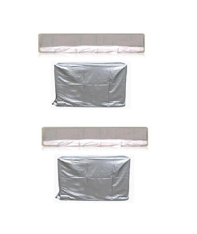 Pair of 2 - 1 Ton & 1.5 Ton AC Dust Cover For Indoor & Outdoor