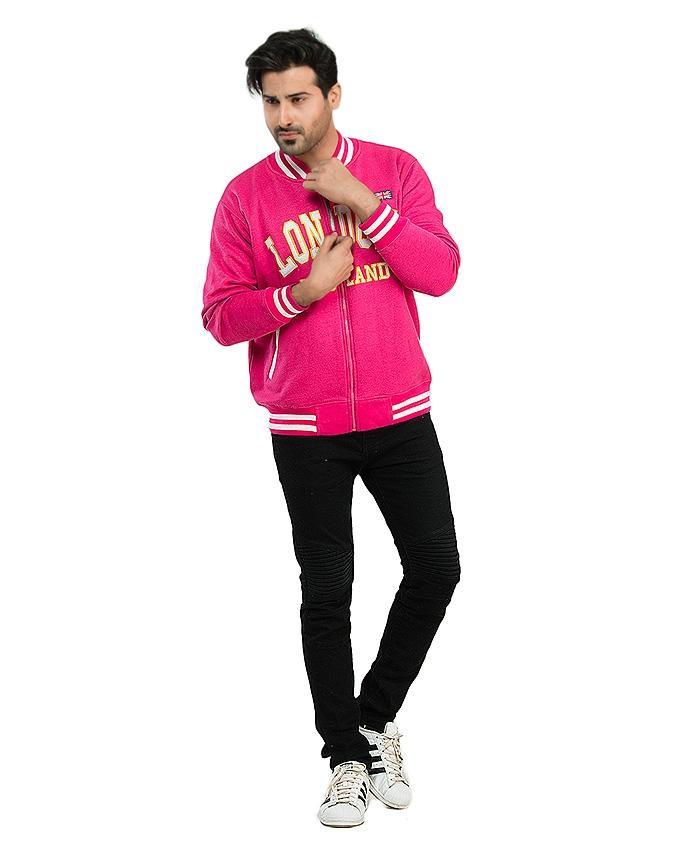 Pink Fleece Jacket for Men