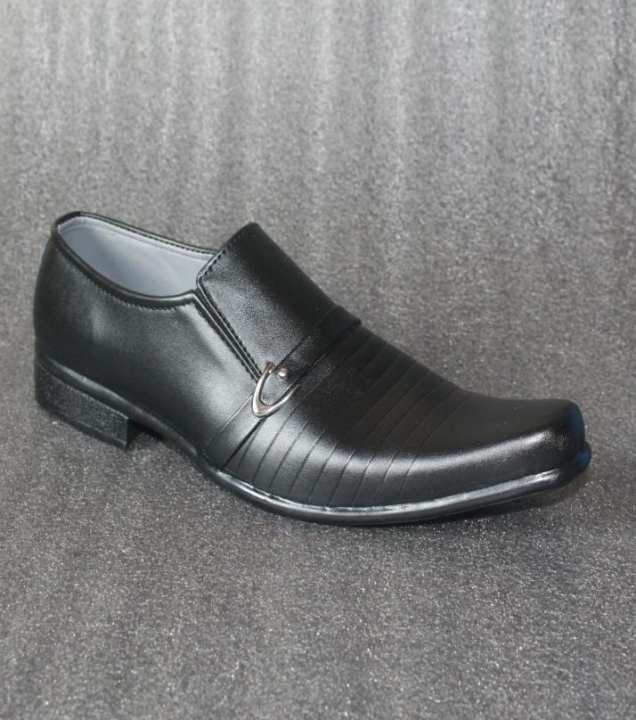 Black Casual Slip On Shoes For Men