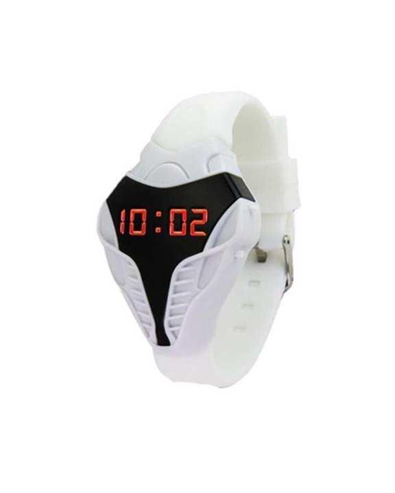 White Silicone LED Cobra Wrist Watch for Men