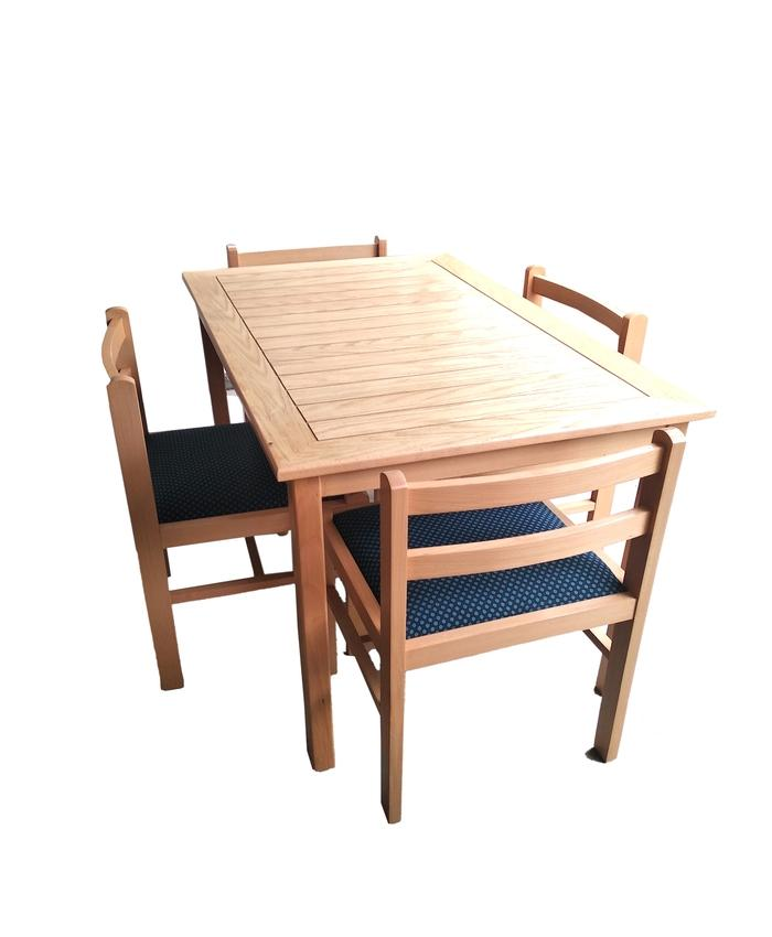 Compact Dining Table Set Dt001 48x30x30 Beech