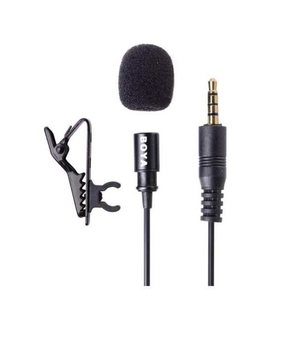 BOYA BY-LM10 Lavalier Microphone Omni-Directional for Smartphone And Tablets - Black