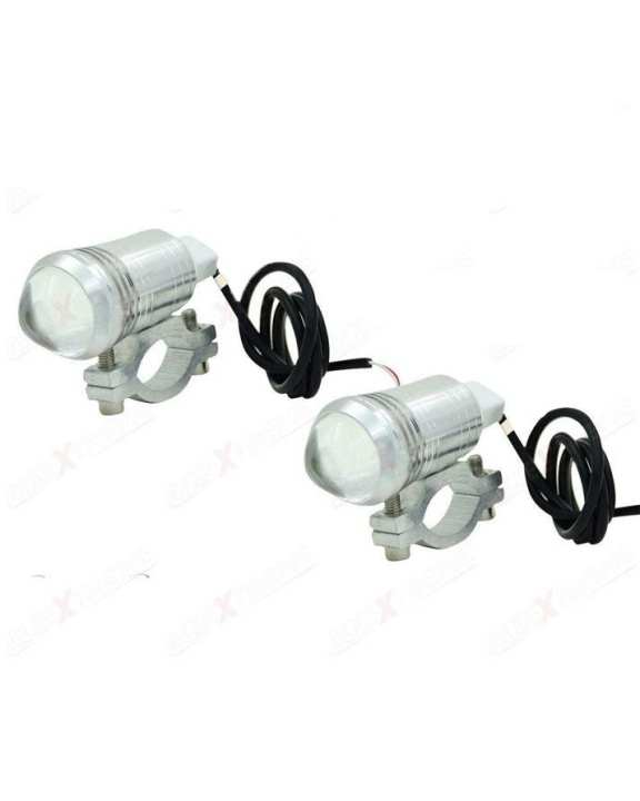 Pack of 2- U1 Bike Projector Spot Beam Light Silver