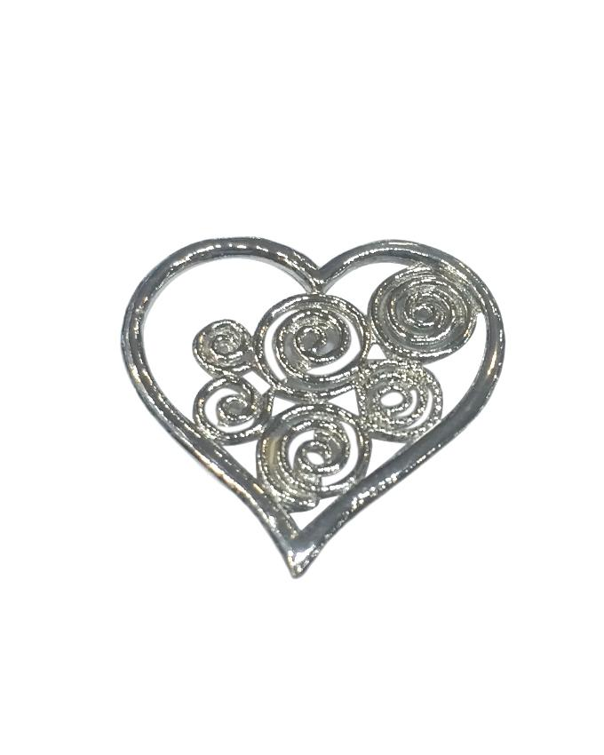 Sterling Silver 925 Heart Pendant For Women