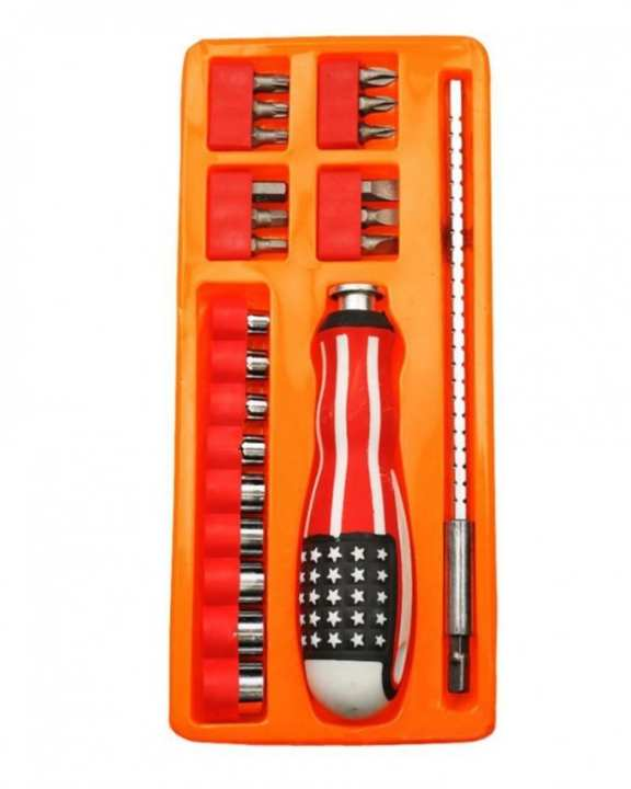 Precision Screwdriver Ratchet Tool Kit - 23 Pcs - Multicolor