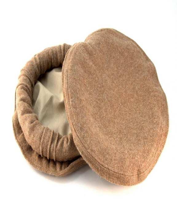 Light Brown Wool Afghan Pakul Chitrali Cap For Men
