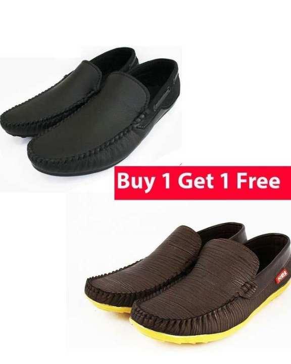 Buy 1 Black Kashish Loafer Get 1 Brown Camel Loafer Free