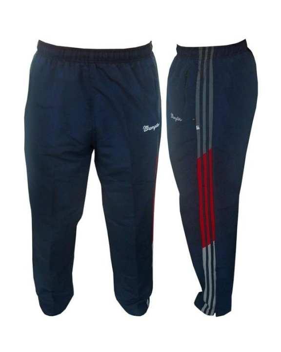 Navy Blue Polyester Trouser for Men