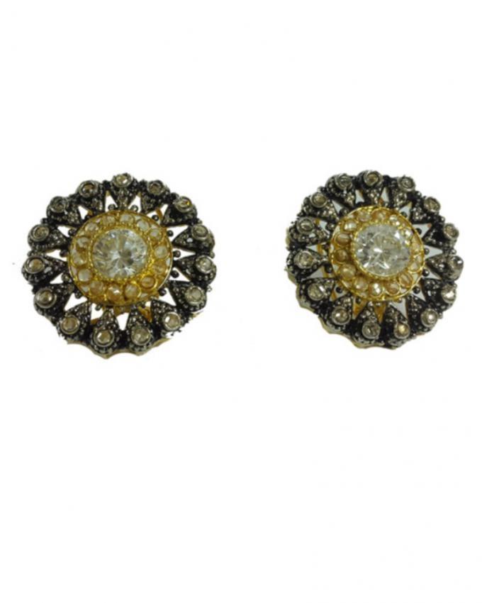 Brown Metal Earrings For Women