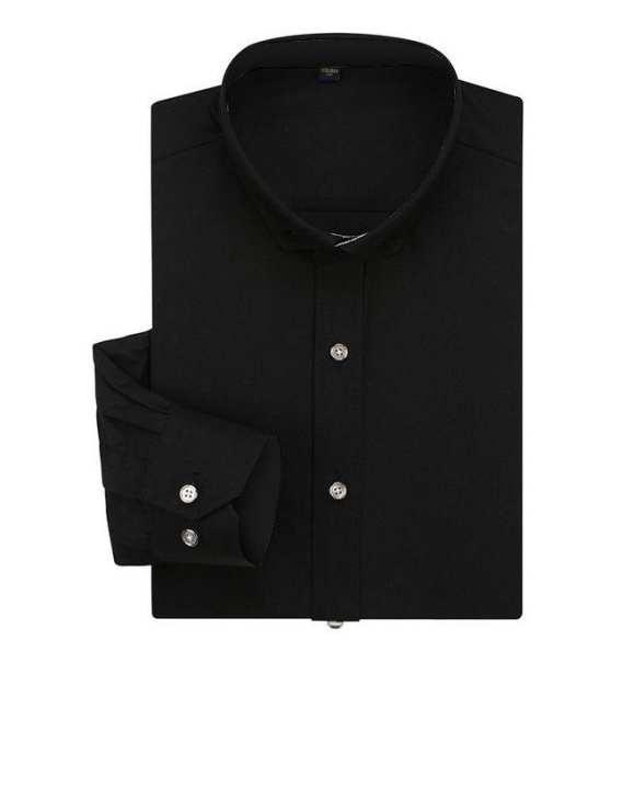 Black Cotton Formal Shirt For Men