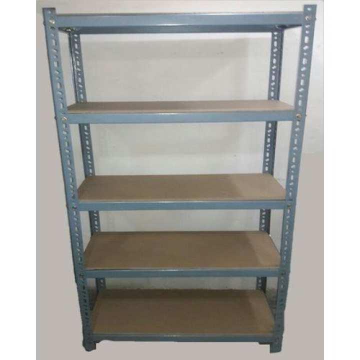 Large Steel Rack & Plywood Shelves