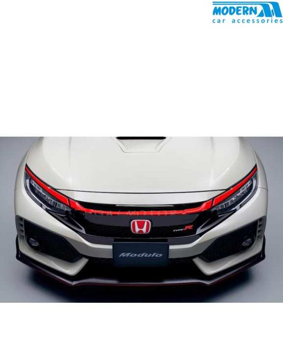 Honda Civic Modulo Grille Red Trim - Model 2016-2018