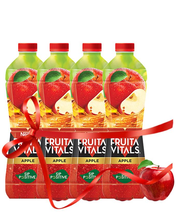 3400f4dcee0e7 FRUITA VITALS- Pack of 4 x Apple 1000ml