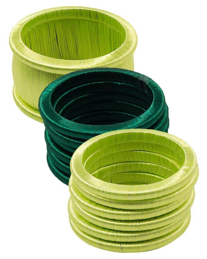 Pack of 3 Multicolour Plastic Bangles for Women
