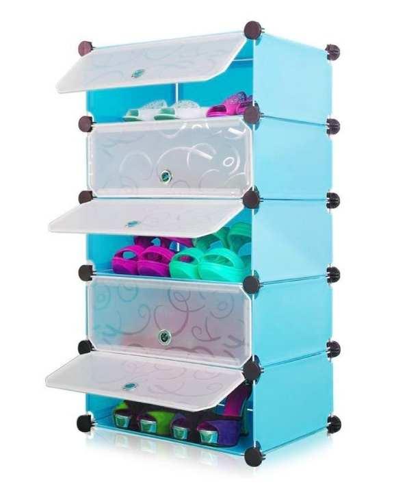 Storage Cabinets & Shoe Racks - Blue