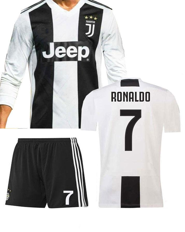 c18cc93dd Kids Juventus Cristiano Ronaldo CR7 Home Shirt   Short Kit