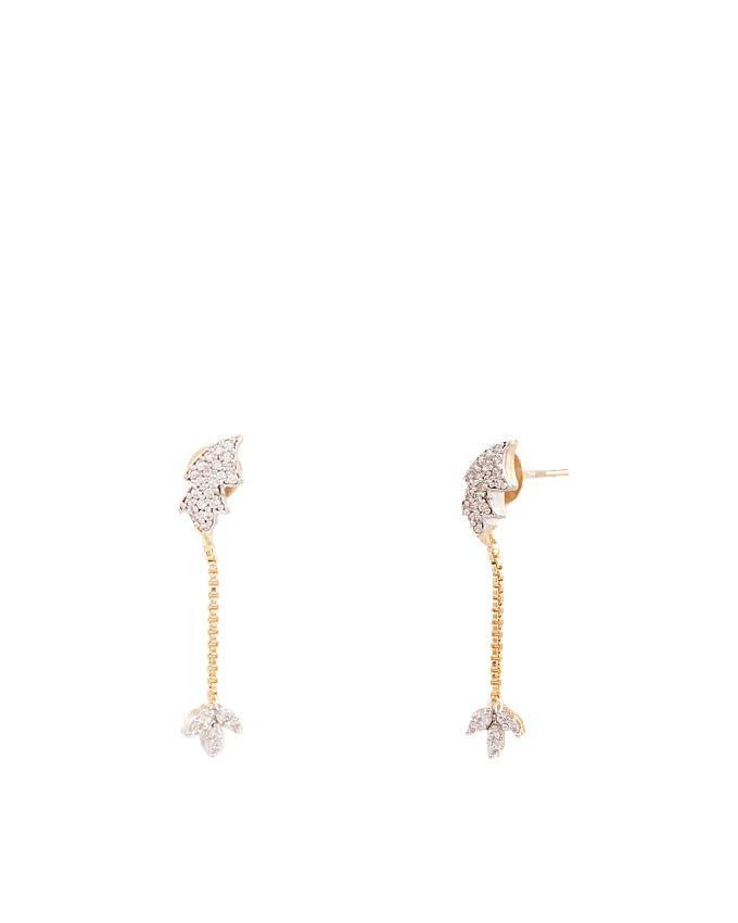 Gold Plated Zircon Earrings for Women - ER-0042