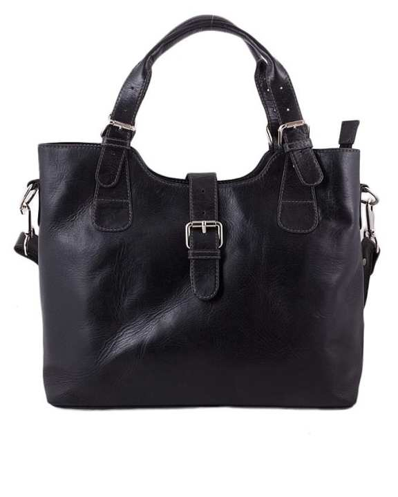 Black Leather Handbag For Women