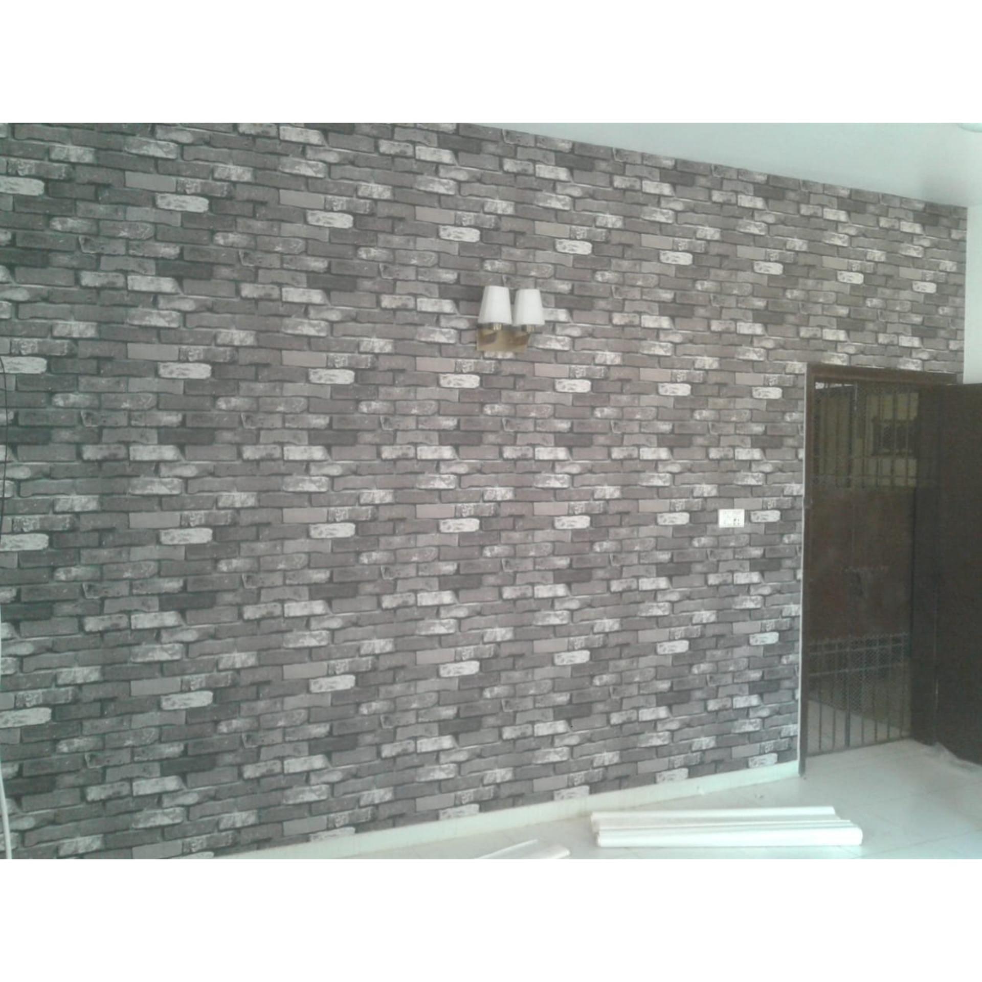 3d bricks light gray wallpaper wall paper