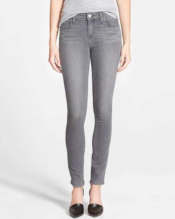 Grey Denim Skinny Jeans for Women